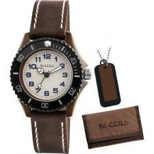 TIKKERS BOYS STUNNING BROWN PU STRAP WATCH, WALLET & NECKLACE SET - ATK1017