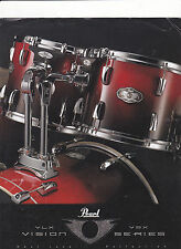 VINTAGE MUSICAL INSTRUMENT CATALOG #10555 - PEARL DRUMS - VISION SERIES