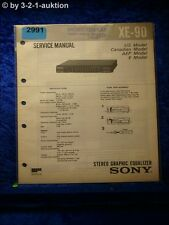 Sony Service Manual XE 90 Graphic Equalizer (#2991)