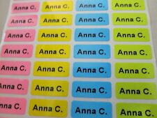 300 Four Different Colors Personalized Name Stickers 0.9 x 2.2 cm Labels Tags