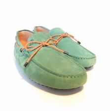 W-1803149 New Tods Green Suede Gommini Leather Woven Laces Driver Size 9 US-10
