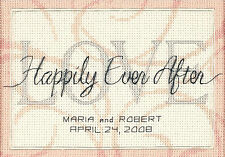 Cross Stitch Mini Kit ~ Dimensions Happily Ever After Wedding Record #65045