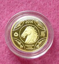 2014 AUSTRALIA GOLD LUNAR YEAR OF THE HORSE $10 PROOF COIN BOX COA