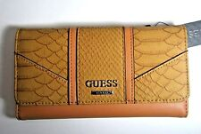 GUESS Cain SLG Trifold Clutch Wallet New NWT Cognac Multiple