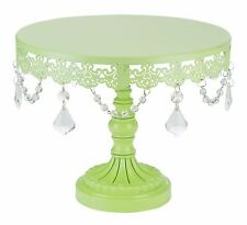 """ROUND CAKE STAND Metal 10"""" Crystal Wedding Display Birthday Party Event"""