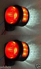 1 pair 11 LEDs SIDE REAR OUTLINE 24V MARKER LIGHTS TRUCK CHASSIS TRAILER CARAVAN