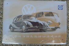 VW Camper Van VW Beetle Car Tin Metal Sign Painted Poster Club Wall Art Office