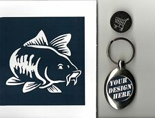 Trolley Coin Keyring Carp Fish .