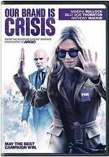 SEALED Our Brand Is Crisis DVD NEW Sandra BullLock, Bob Thornton 2016 BRAND NEW
