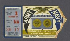 Army vs Navy 1949 College Football Ticket Stub