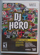 DJ Hero (game only) (Wii, 2009) BRAND NEW