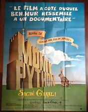 Affiche cinéma originale Monty Python : Sacré Graal !     format 120 x 160