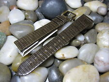19mm Hirsch Brown Genuine Lizard Watch Band! strap For Vintage gold Made Austria