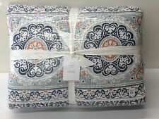 POTTERY BARN Pia KING Quilt, BLUE, NEW