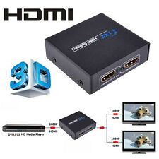 Full HD 1x2 Port HDMI Splitter Amplifier Repeater 3D 1080p Female Switch Box Hub