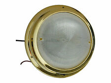 MARINE 12v LED ROUND CEILING DOME INTERIOR LIGHT -BOAT CARAVAN & RV- FIVE OCEANS
