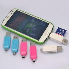 1X Micro USB 2.0 OTG Adapter SD T-Flash Speicherkartenleser für Smartphone