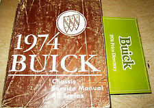 1974 BUICK SHOP MANUAL CHASSIS SERVICE BOOK SKYLARK LESABRE REGAL MORE ORIGINAL