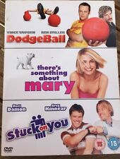 Dodge Ball, There's Something About Mary & Stuck On You 3 DVDs Set