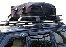 Car Roof Rack Cargo Bag Soft Top Box 340L Weather Resistant Rain Flap Protection