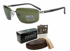SERENGETI AGAZZI SUNGLASSES POLARIZED PHOTOCHROMIC PhD 555nm SHINY SILVER 7564