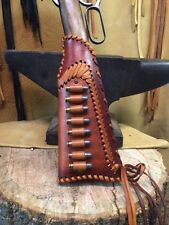 LEATHER GUN STOCK COVER/SHELL HOLDER Winchester Marlin Rossi Henry