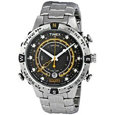 Timex Mens Intelligent Quartz T2N738 Stainless Tide Temp Compass Watch