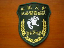 15's series China Armed Police Force (CAPF) Snow-Leopard Commando Unit Patch,A