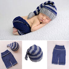 Newborn Baby Girls Boys Soft Crochet Knit Costume Photo Photography Prop Outfits