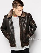 Diesel Shearling Leather JACKET Coat M