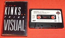 THE KINKS UK CHROME CASSETTE TAPE - THINK VISUAL - PAPER LABELS