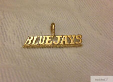 Toronto Blue Jays Necklace Pendant Charm  24K Yellow Gold Plated  Fan Jewelry