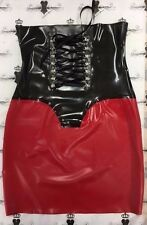 Corset Skirt *New Collection* size 10 Red/TransBlack RUBBER Latex Slight second