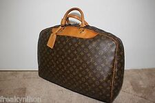 Authentic LOUIS VUITTON Monogram Alize 55cm Soft Suitcase Luggage Made in France