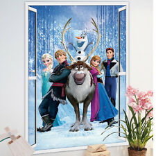 Large Frozen Elsa Anna Wall Stickers Decals Removable Home Decor Kids Art Mural