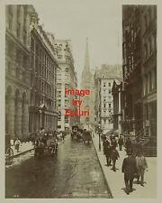 """Wall Street 1895 - 8x10"""" Reprint photograph"""