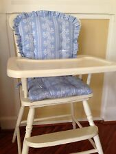 LIGHT BLUE print High Chair Pads Child's Rocking Chair Cushions