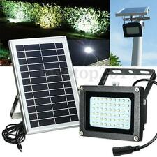 Solar Powered 54 LED Waterproof Outdoor Security Flood Light Floodlight w/ Panel