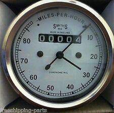 Smiths Replica Speedometer fits Royal Enfield Motorcycle 0-80 MPH White