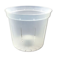 """5"""" Slotted Clear Orchid Pot - Quantity 2"""