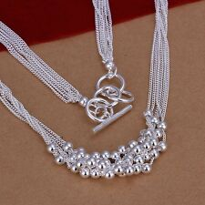 925 Sterling Silver Necklace Pendant Balls B68
