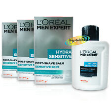 3x Loreal Men Expert Hydra SENSITIVE Alcohol Free Post Shave Balm 100ml