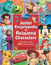 Junior Encyclopedia of Animated Characters by Disney Book (Hardcover)-New