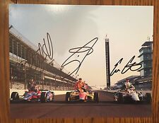 Marco Andretti Munoz Ed Carpenter Signed Indy 500 Front Row 8 X 10 Photo 2013