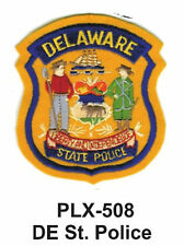 """DE STATE POLICE (STATE POLICE) EMBROIDERED PATCHES  4"""""""