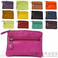 LADIES BUTTER SOFT REAL LEATHER MONEY PURSE COIN HOLDER SUPER PRESENT