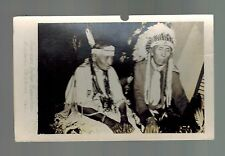 Mint RPPC Real Picture Postcard Native American Indian Exposition Oklahoma Men
