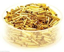 """1.5 x 6  MM  Brass"""" TUBE SPACER"""" Beads Hole 1.0 MM  Pkg. Of 100  Solid Raw Brass"""