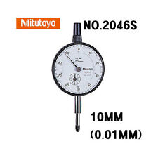 Mitutoyo Dial Indicator 2046S  0.01mm X 10mm  Test Indicator Japan