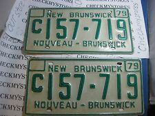 VINTAGE  NEW BRUNSWICK 1979 CAR PLATE   # C157 719  (2)PLATES